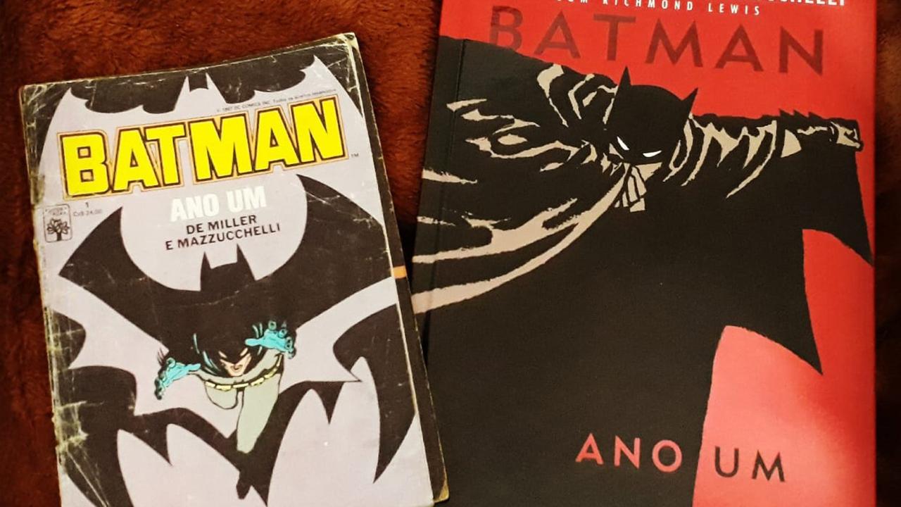 """Comparação de Cores de """"Batman – Ano Um"""" em Diferentes Edições"""