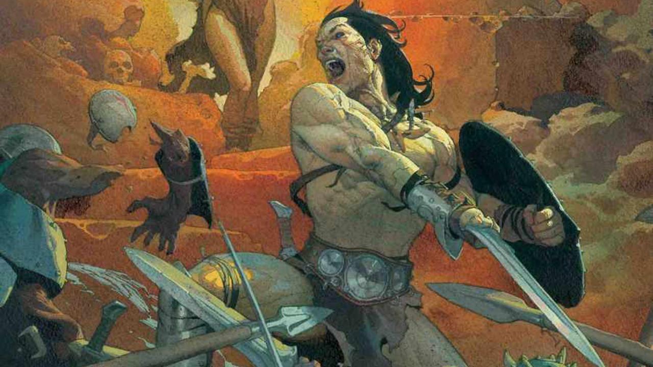 Veja a primeira capa de Conan, o Bárbaro em seu retorno a Marvel Comics
