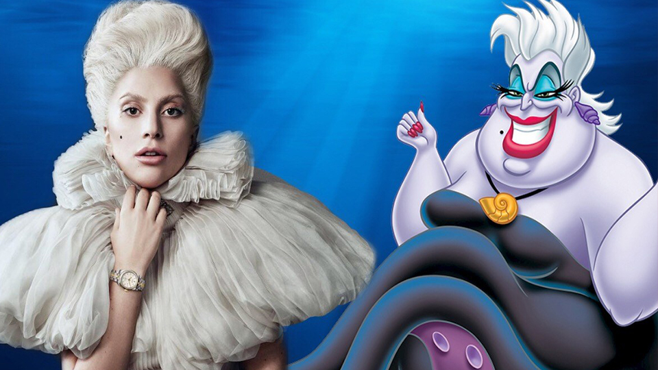 Lady Gaga pode interpretar Ursula no live action de A Pequena Sereia