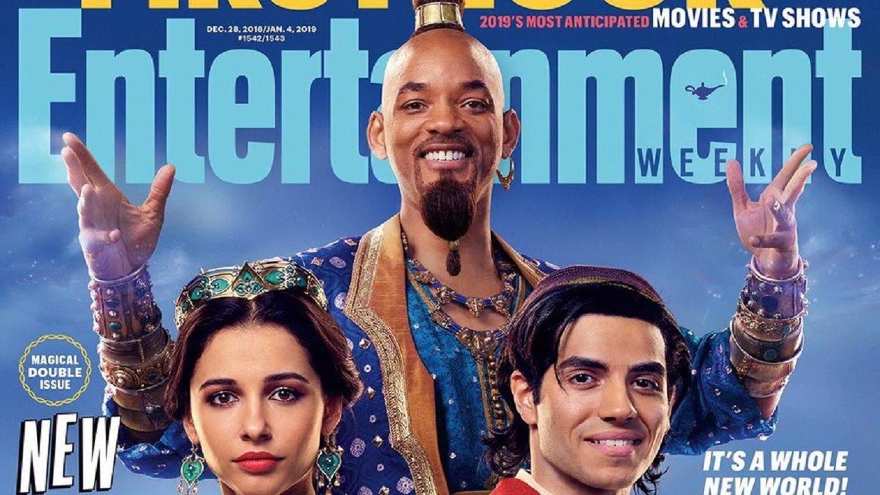 Novas imagens de Aladdin apresentam Jasmin e Gênio
